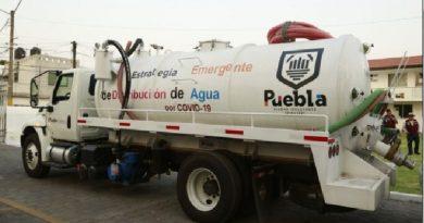 Seguirá la entrega de agua en 60 mil viviendas de la Puebla capital