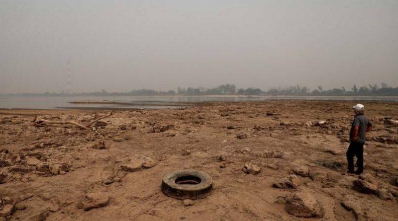 El río Paraguay apunto de desaparecer